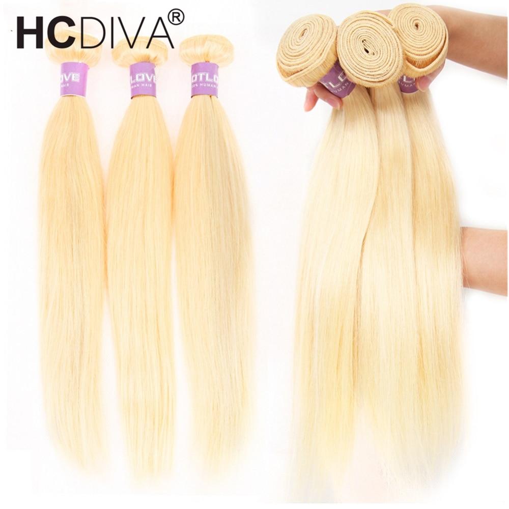 1/3/4pcs 613 Blonde Bundles Brazilian Hair Weave Straight Hair Bundles 100% Remy Human Hair Bundles 613 Blond Hair Extension