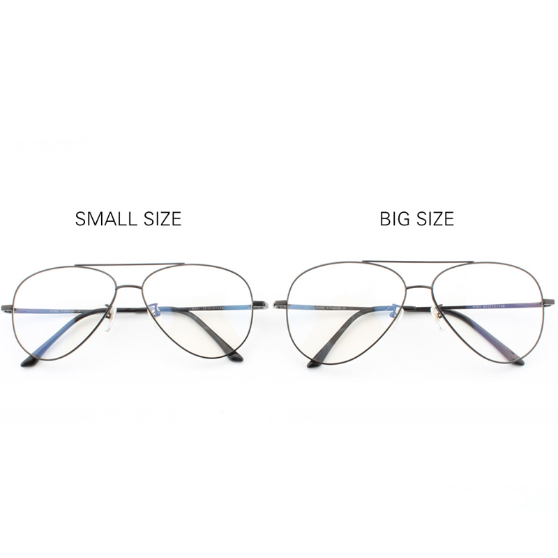 Image 4 - Pure Titanium Prescription Frame Pilot Men Oversize Eye Glasses Frame Optical Myopia Eyeglasses High quality Frame for WomenMens Eyewear Frames   -