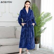 Albornoz de terciopelo Coral para mujer, pijama para mujer, bata cálida de franela, bata de dormir para mujer, túnicas de terciopelo Coral ouc304