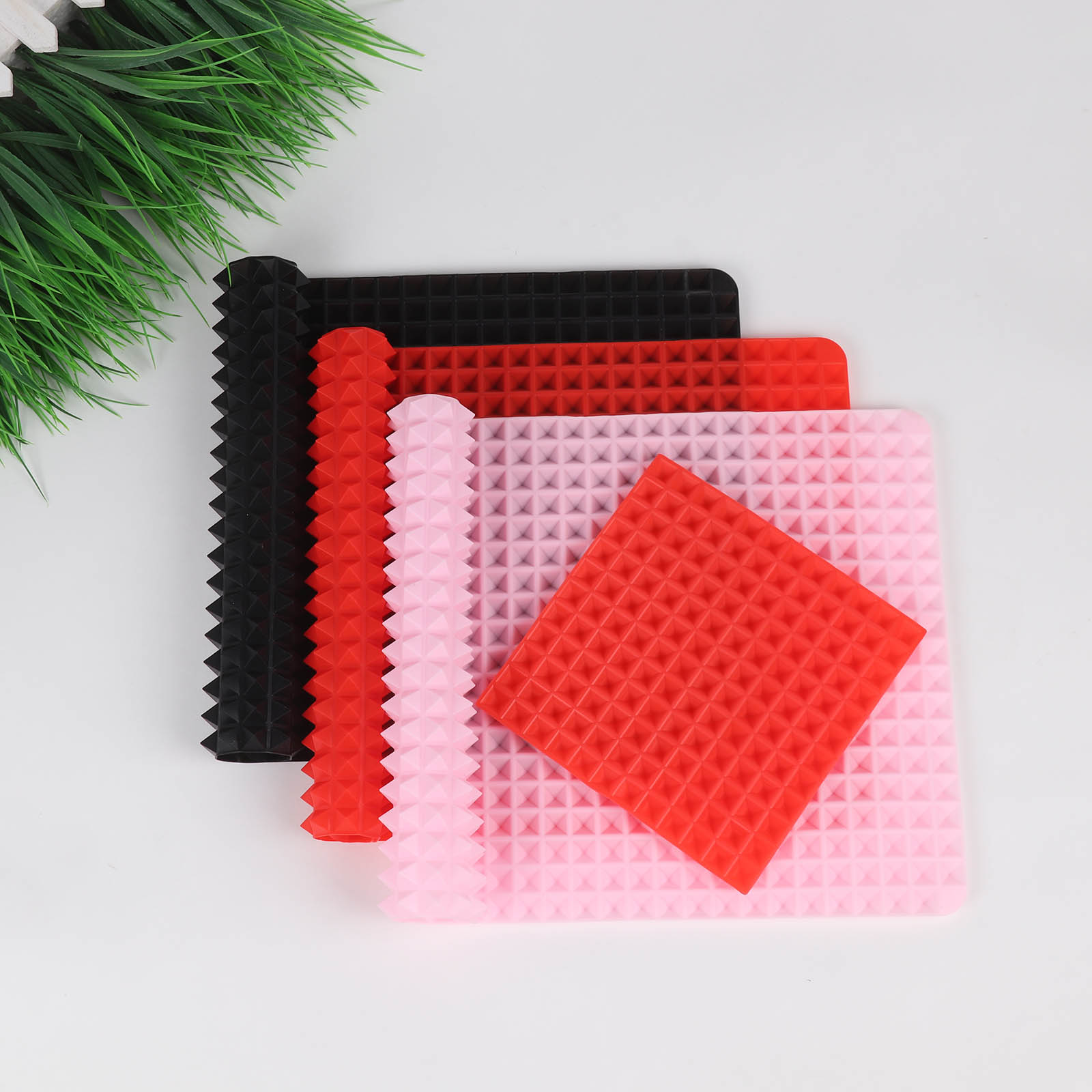 3 Colors Silicone Baking Mat In Non Toxic And High Temperature Resistance For Chocolate And Jelly Pudding 6