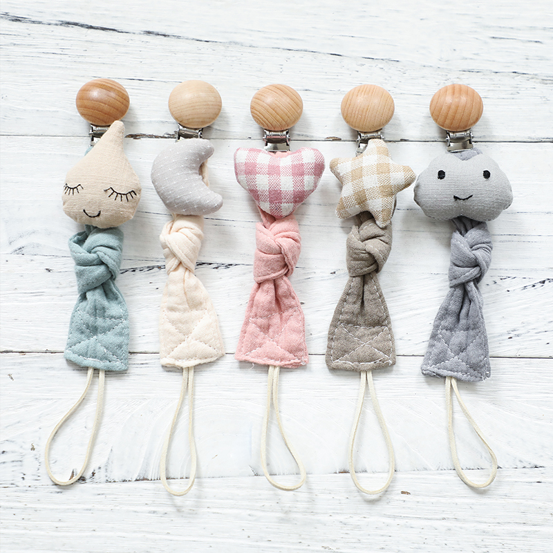 Baby Toys Cotton Clot Plush Animal Pacifier Chain Clip Baby Accessories Soother Nipples Holder Rodent Newborn Toy Baby Products