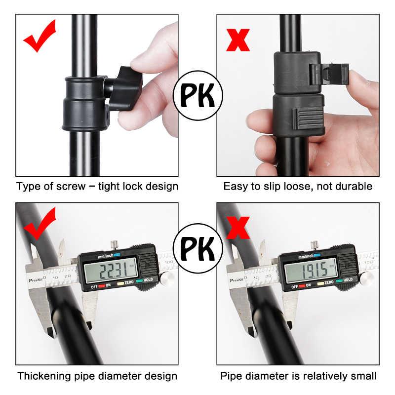 写真撮影の T 字型の背景スタンド調節可能な背景フレーム複数のサイズのサポートシステムキットクロマキー