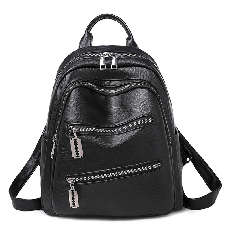 Women Backpack New Fashion Women's Retro Backpacks PU Waterproof Backpack For Girls Schoolbag Female Shoulder Travel Bag