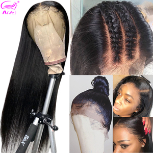 Straight Lace Front Wigs For Women Natural Wig Brazilian 360 Hd Full Lace Frontal Wig Straight 13x6 Lace Front Human Hair Wigs(China)