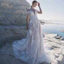 Eightree пляжное свадебное платье с открытыми плечами кружевные
