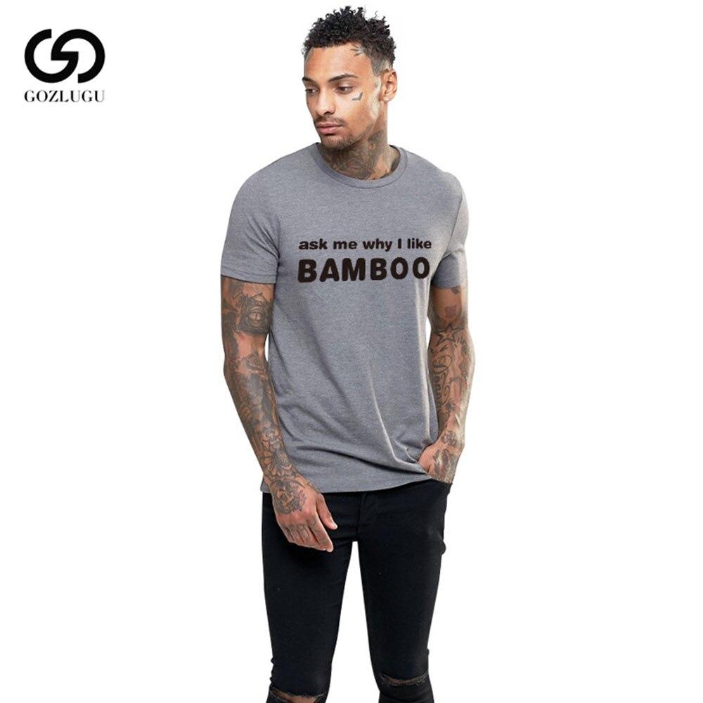 Summer European And American Fashionr  BAMBOO &Bear Hug  Printing Men Loose Casual Short-Sleeved Round Neck T Shirt