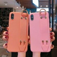 Wrist Strap Phone Case For Xiaomi Redmi 7 7A Note 7 case For Xiaomi 9 SE A3 A3 lite K20 CC9E CC9 Cover case With Wristband цены онлайн