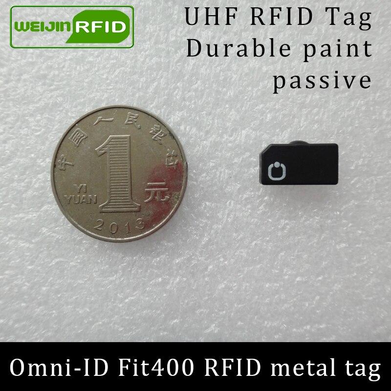 UHF RFID Anti-metal Tag Omni-ID Fit400 Fit 400 915mhz 868mhz Alien Higgs3 EPCC1G2 6C Durable Paint Smart Card Passive RFID Tags