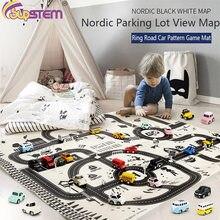 100*130cm criança brinquedo escalada esteira cidade estrada construção estacionamento roteiro diy mapa modelo de cena do jogo para o miúdo educacional aprendizagem brinquedo almofada