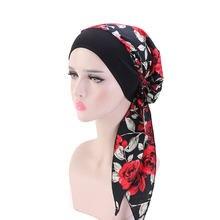 2020 мода мусульманский повязка тюрбаны для женщин с длинным