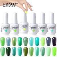 Elite99 15ml Grün Farbe UV Gel Polish Soak Off Gel Nagellack Lange Anhaltende Nägel Gelpolish Maniküre Gel Für nail art Lacke