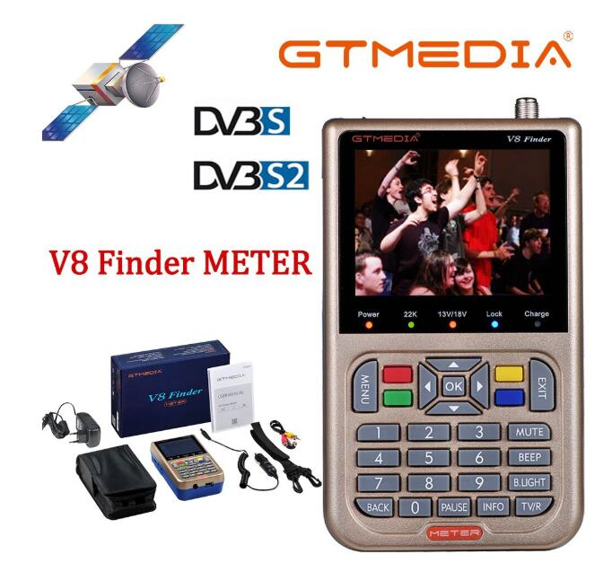 GTmedia V8 Finder DVB-S2 Satellite Meter Satellite Finder Better Than Freesat V8 Finder SATLINK WS-6906 6916 6950 Ws-6933 Ws6933