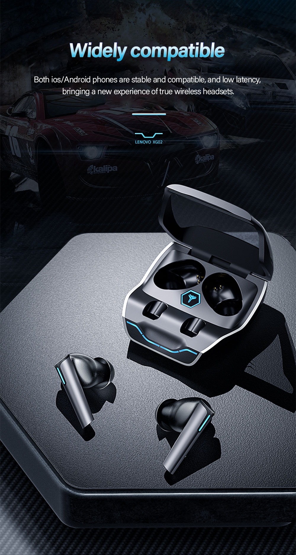 Lenovo XG02 TWS Gaming Earbuds 7