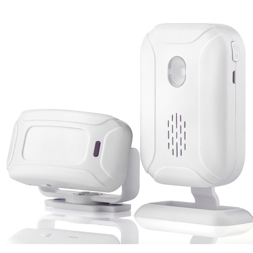 ABS PIR Wireless Doorbell Motion Sensor Infrared Detector Night Light Alarm Entry Welcome Multifunctional Office Hotel Home Shop