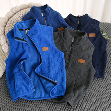 Children Vest Spring Sleeveless Jacket Polar-Fleece Autumn Outdoor Kids To Boy Solid