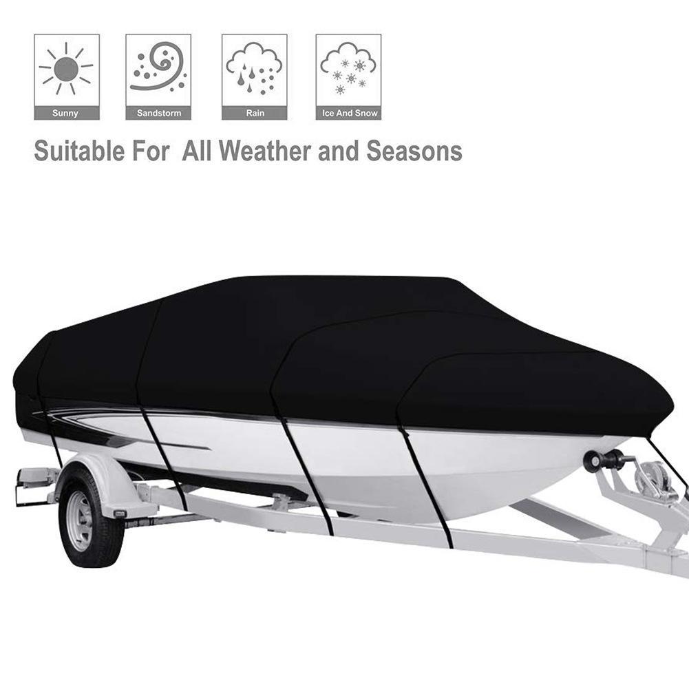 Couverture imperméable résistante de bateau de 210D couverture noire de Yacht Protection Anti UV couverture infrarouge de bateau en forme de V couvre des couvertures de Ski de pêche