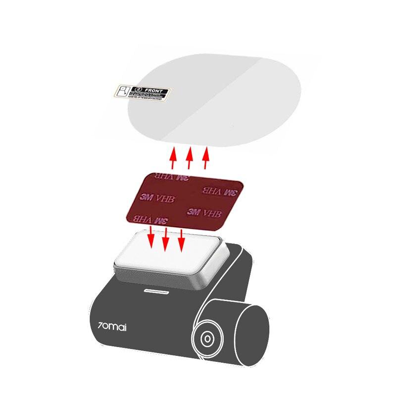 Для автомобильного видеорегистратора Xiaomi 70mai Pro и оригинального видеорегистратора 70mai Pro, 3 м, двусторонняя лента и прозрачная Электростатич...