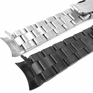 Image 5 - Watchband Arc Edge Stainless Steel Strap Arc Mouth bracelet metal band  20 22mm watch band For  For Seiko ect