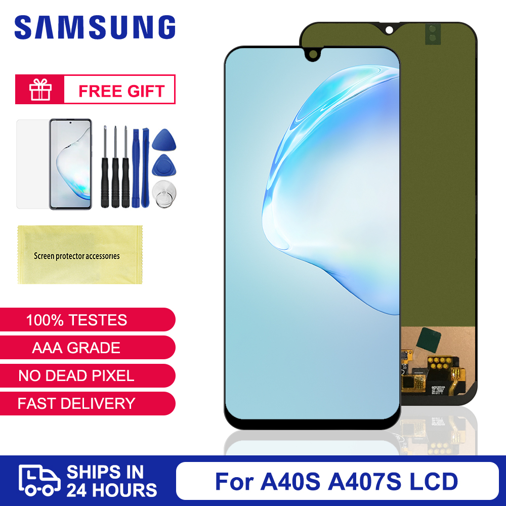 6.4'' A40S TFT For Samsung Galaxy A40S A407 LCD Display Touch Screen Digitizer Assembly For Samsung A40S A407 Screen Repair Part