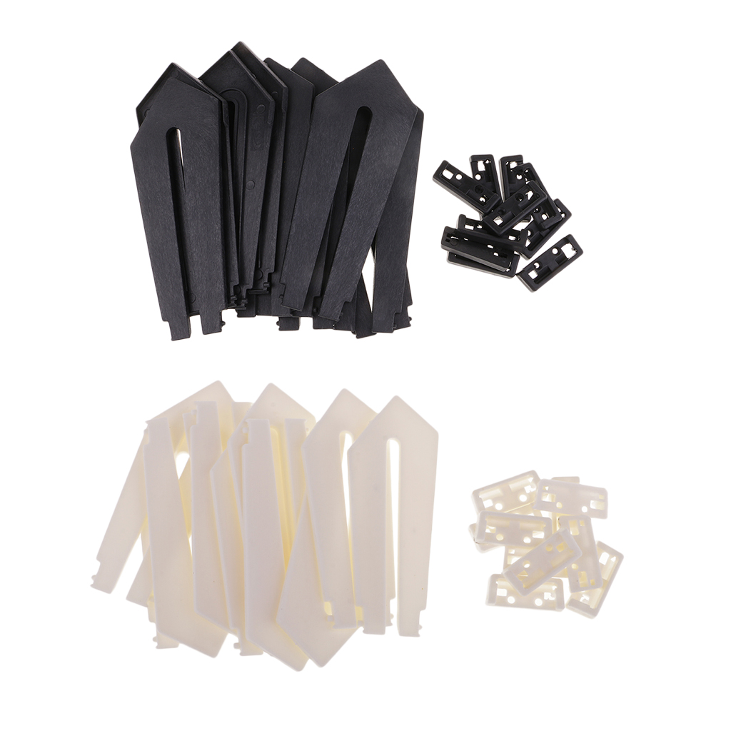 10PCs DIY Photo Frame Sword Shaped Picture Photo Frame Holder Support Display Easels Stand (Black, White) 180x75x6mm/125x45x6mm