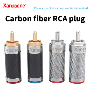 Image 1 - Xangsane 4PCS black/white carbon fiber gold plated and silver plated hifi audio RCA plug for DIY signal power cable