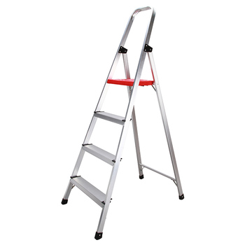 new 15 5ft step platform multi purpose all rustproof aluminum alloy folding scaffold step ladder for commercial use tool Hasegawa step ladder lightweight household warehouse multifunctional aluminum alloy folding thickening ladder