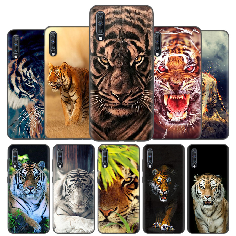 Silicone Case Cover For Samsung Galaxy A50 A80 A70 A40 A30 A20 A20e A10 A9 A8 A7 A6 Plus 2018 Note 10 9 8 tiger Fashion Lovely A-in Fitted Cases from Cellphones & Telecommunications