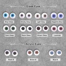 Boneca bjd olhos artesanato de vidro acrílico segurança animal brinquedo globo ocular 1/3 1/4 1/6 1/8 cinza verde azul 6 8 10 12 14 16 18mm bjd acessórios