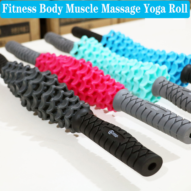 Fitness Body Muscle Massage Yoga Roll Anti Cellulite Sports Hedgehog CrossFit Stick Messager Relax Roller Home Workout Trainers