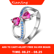 New 100% Authentic 925 Sterling Silver Delicate Bow Rings With pink&blue CZ Original fashion Jewelry for women free shipping bcx53 16 bcx53 sot89 original authentic and new free shipping
