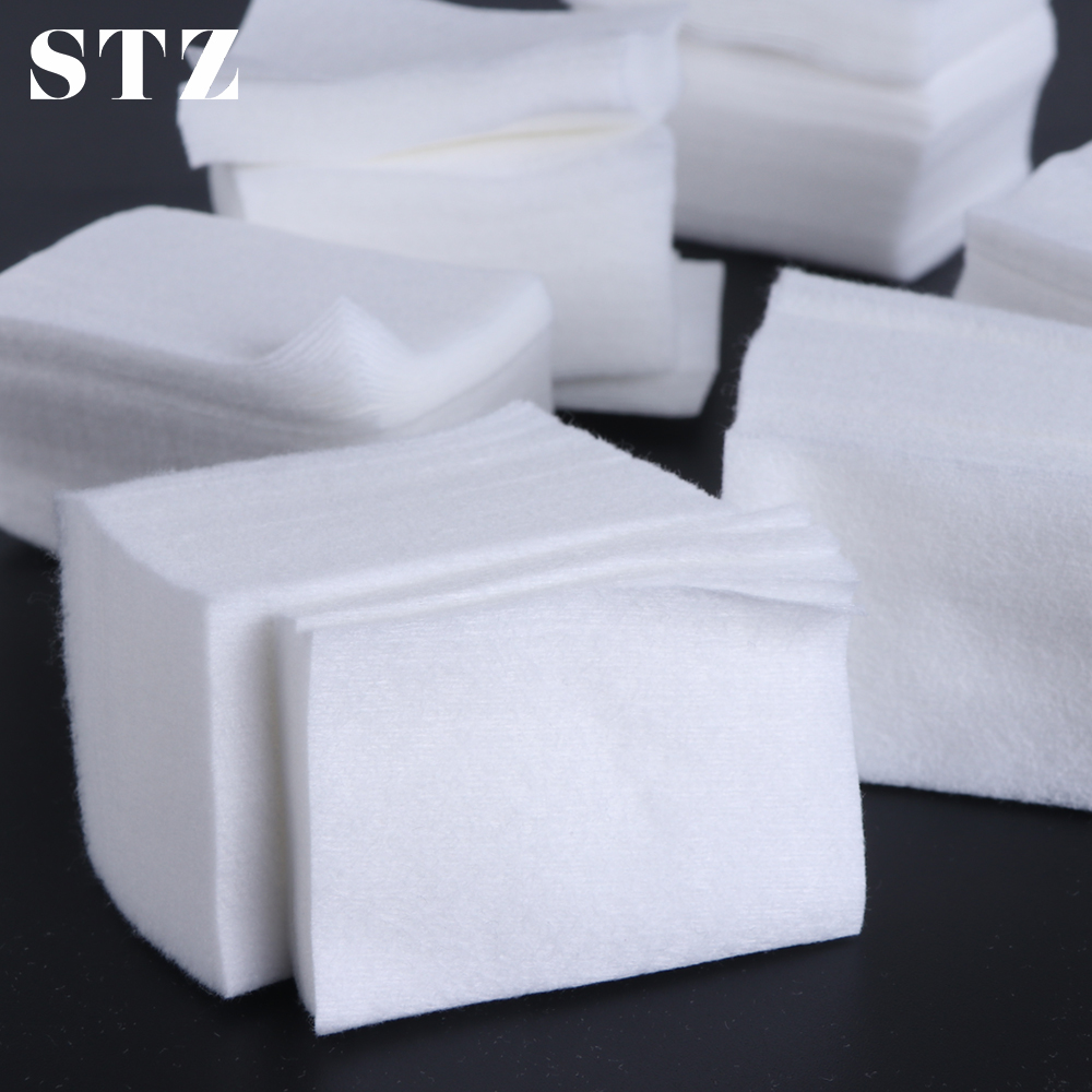 STZ Lint-free Nail Polish Remover Pads Soft Cotton Napkins For Manicure Nail Wipes Paper Make-up Cleaner Tools Accessory #957-1
