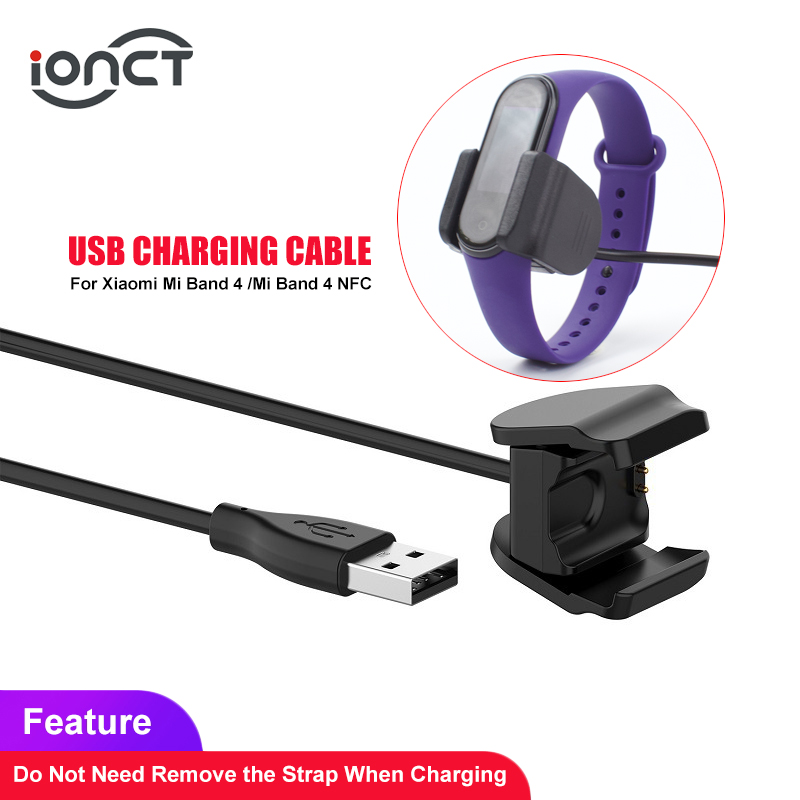 IONCT USB Charger Cable For Xiaomi Mi Band 2/3/4 Charger Disassembly-free Adapter Charging Accessories MiBand 4 NFC Cable Charge