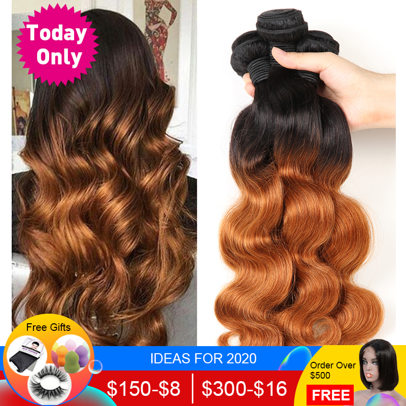 TODAY ONLY 1 3 4 Bundles Body Wave Bundles Ombre Hair Bundles Brazilian Hair Weave Bundles Remy Human Hair Extensions