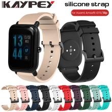 20mm Silikon Handgelenk Armband Strap für Xiaomi Huami Amazfit BIP/GTS/GTR 42mm Smart Uhr Band armband Sport Armband