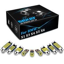 Seker Canbus LED Interior Luz Para BMW X1 E84 E48 X3 E83 F25 X4 F26 X5 E53 E70 X6 E71 E72 2000-2015 Dome Mapa Tronco Lâmpada Kit