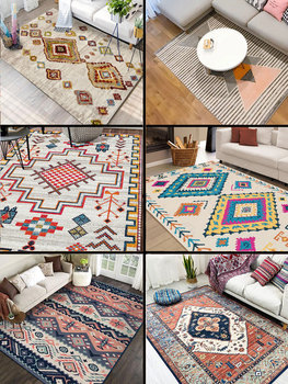 Modern Simple Living Room Coffee Table Sofa Carpet New Morocco Style Kilim Soft Carpets For Living Room Non-slip Rugs