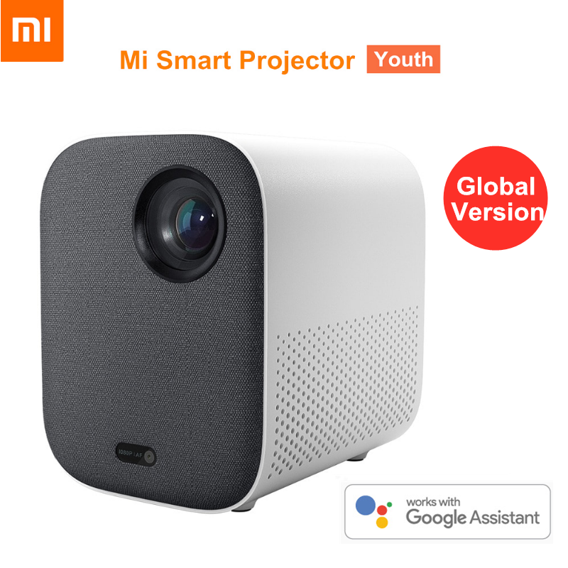 Глобальная версия смартфона Xiaomi Mijia, 1080P Full HD Android TV 9,0 500ANSI 2,4G, Wi-Fi, 16 ГБ ROM, Bluetooth мини-проектор