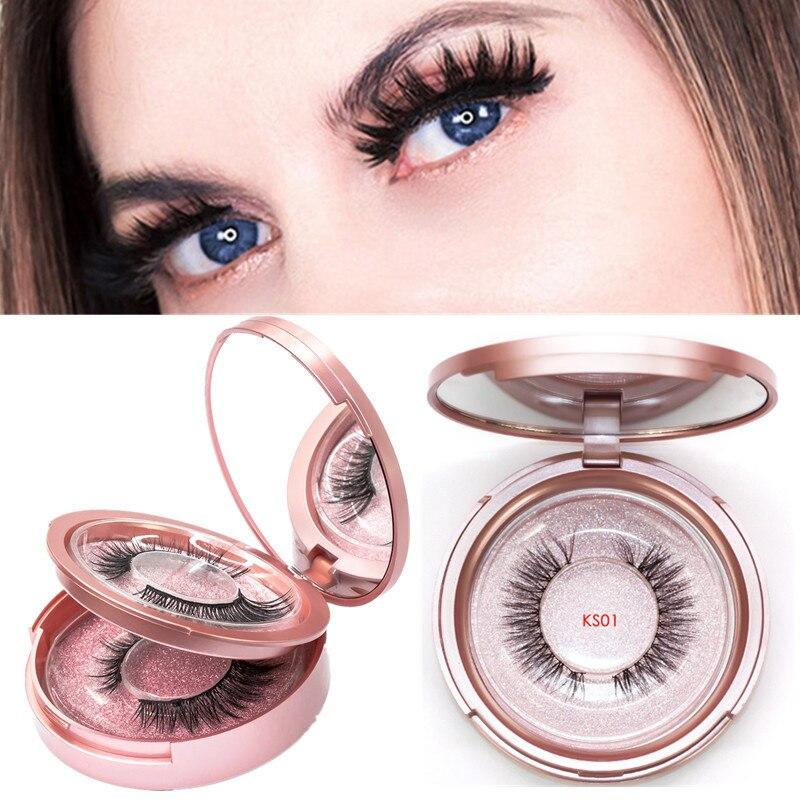 Magnetic Eyelashes Kit Handmade Natural Waterproof  5 Magnets Eyelashes Makeup Set False Lashes Need Use With Magnetic Eyeliner