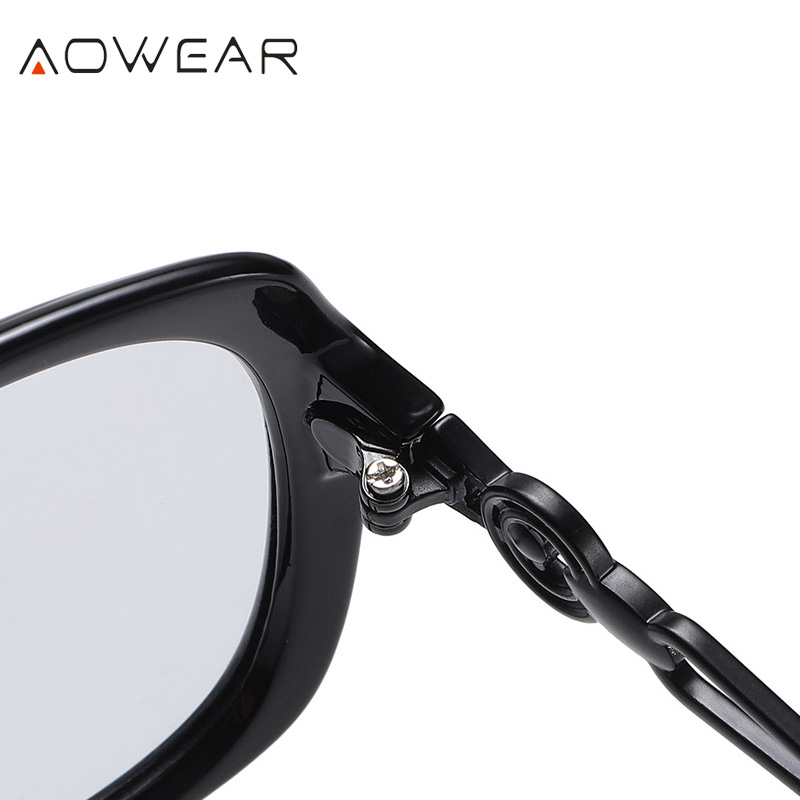 AOWEAR 2020 Oversized Retro Women s Sunglasses Women Polarized Luxury Brand Gradient Shades Sun Glasses Lady