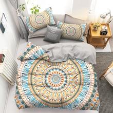 Boêmio 3d luxo 2 conjunto consolador conjuntos de cama mandala duvet cover conjunto fronha rainha rei tamanho 220x240 roupa cama