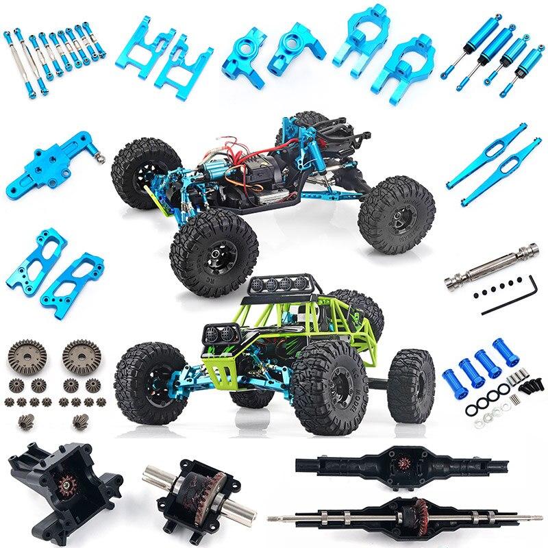 Wltoys 12428 12423 RC voiture toutes mise à niveau des pièces métalliques RC camion avant différentiel arrière engrenage 12428-0011/0012/0013/0014 12428 pièces