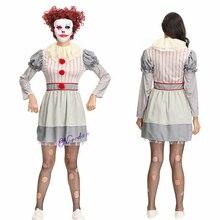 Клоун Стивен Кинг это Косплей Костюм Pennywise костюм женский костюм Необычные Хэллоуин наряд костюм страшный клоун костюм