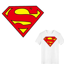 Iron on Superman Patches for Clothing DIY T-shirt Applique Ironing Heat Transfer Vinyl Superhero Patch Stickers Thermal Press