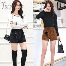 Женские шорты с высокой талией и широкими штанинами, женские шорты с карманами и эластичной резинкой на талии