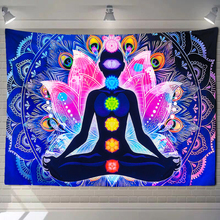 Yoga-Carpet Chakra-Tapestry Christmas-Decorations Wall-Hanging Buddha-Meditation Psychedelic
