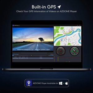 Image 5 - AZDOME 4K 2160P Dual Lens Built in GPS WiFi FHD 1080P Front + VGA Rear Camera Car DVR Recorder GS63H Dash Cam Night Vision