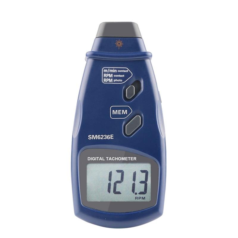 DT6236E tachymètre numérique sans Contact testeur de tours/min Laser 2.5 à 99,999 tours/min Photo Tach livraison directe