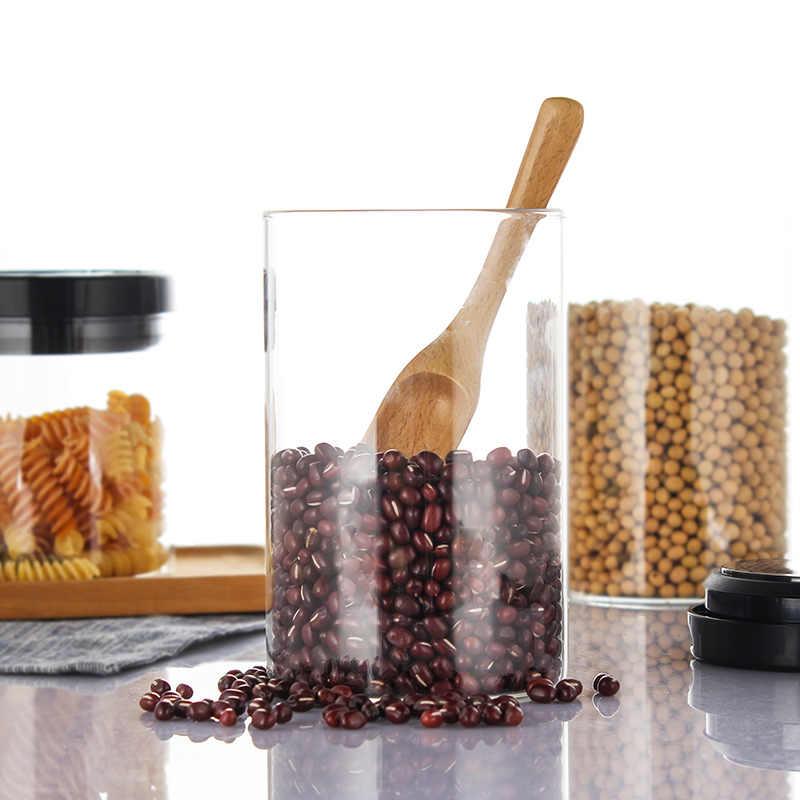 Kaca Disegel Kaleng Kopi Penyimpanan Botol Disegel Makanan Organizer Tangki Susu Bubuk Gandum Penyimpanan Teh Dapur Perlengkapan Mx6201109