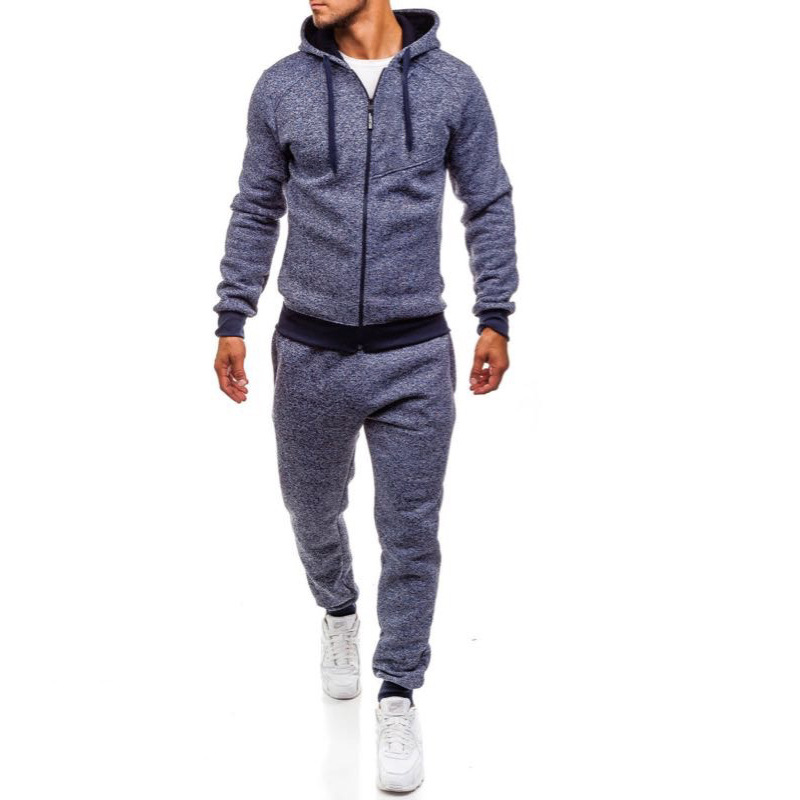 2019 AliExpress Autumn And Winter New Style Men Hooded Cardigan Hoodie Suit Trousers Sports Leisure Suit
