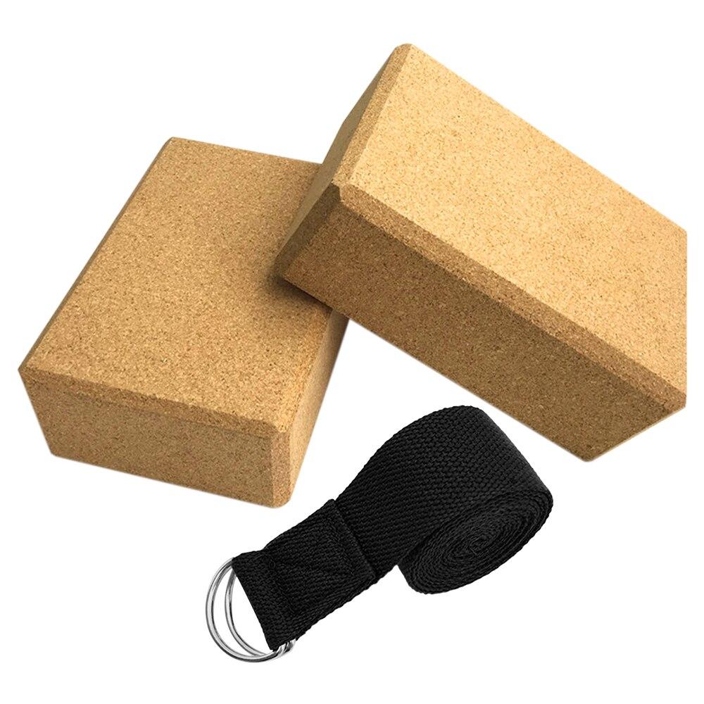 3 шт., пробковый блок для йоги, для занятий спортом, дома, в тренажерном зале, деревянный кирпич для йоги, мягкий блок высокой плотности для за...